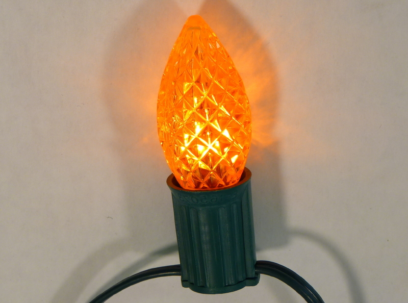 c9 faceted transparent amberorange led bulbs